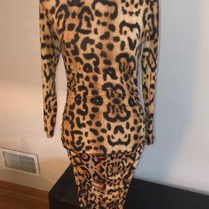 Goodtime Dresses - Leopard print mock dress